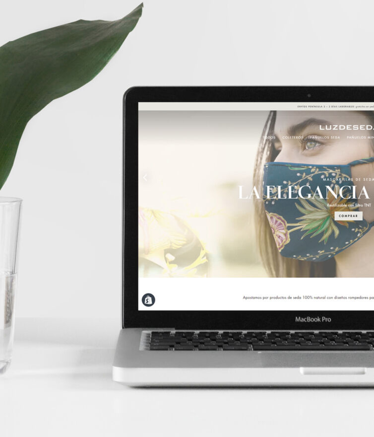 Diseño de e-commerce Luz de seda